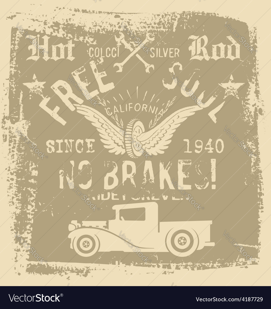 Free soul hot rod vector