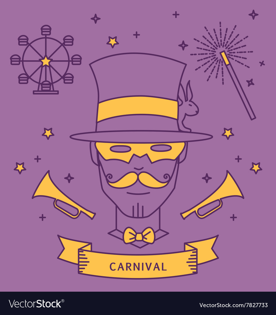 Magician carnival costume outfit vector