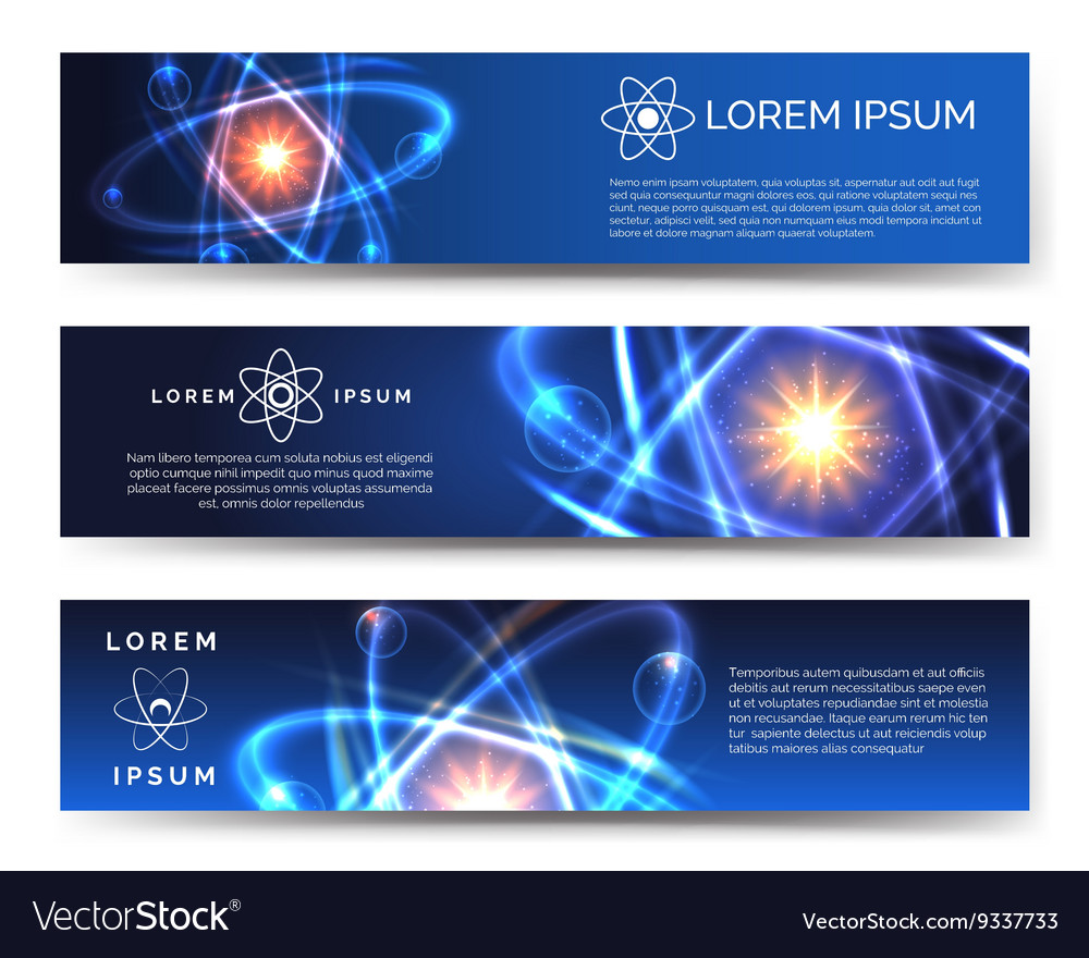 Scientific and technological banners vector