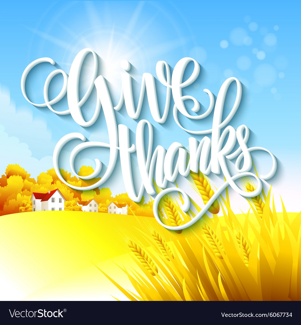 Thanksgiving autumn landscape vector
