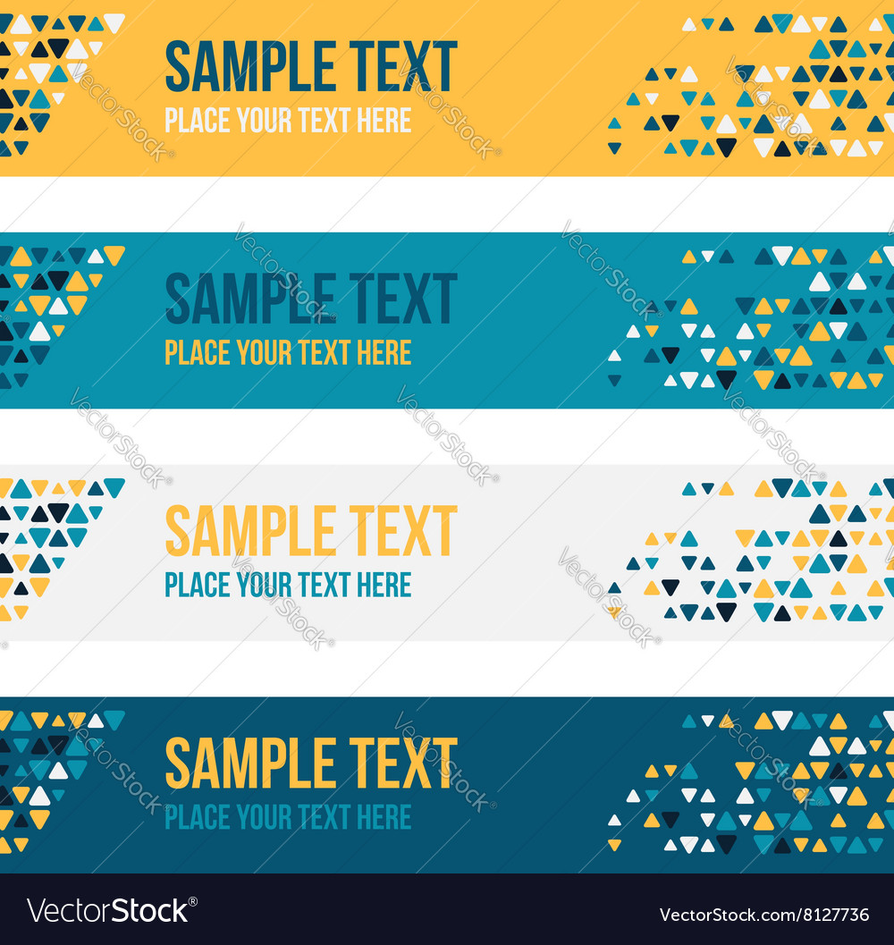 Patterned banners backgrounds with small spots vector