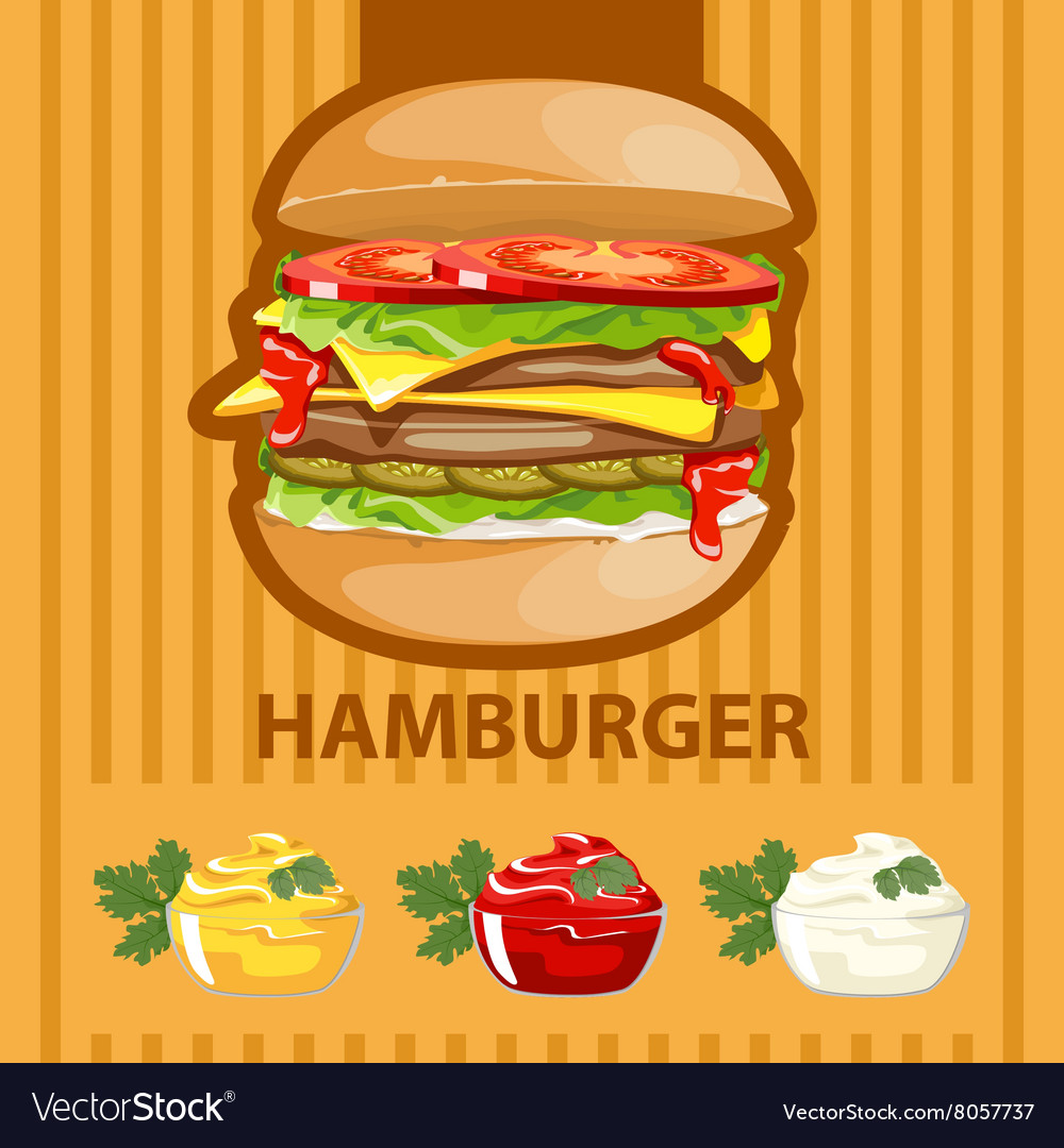 Big tasty burger vector
