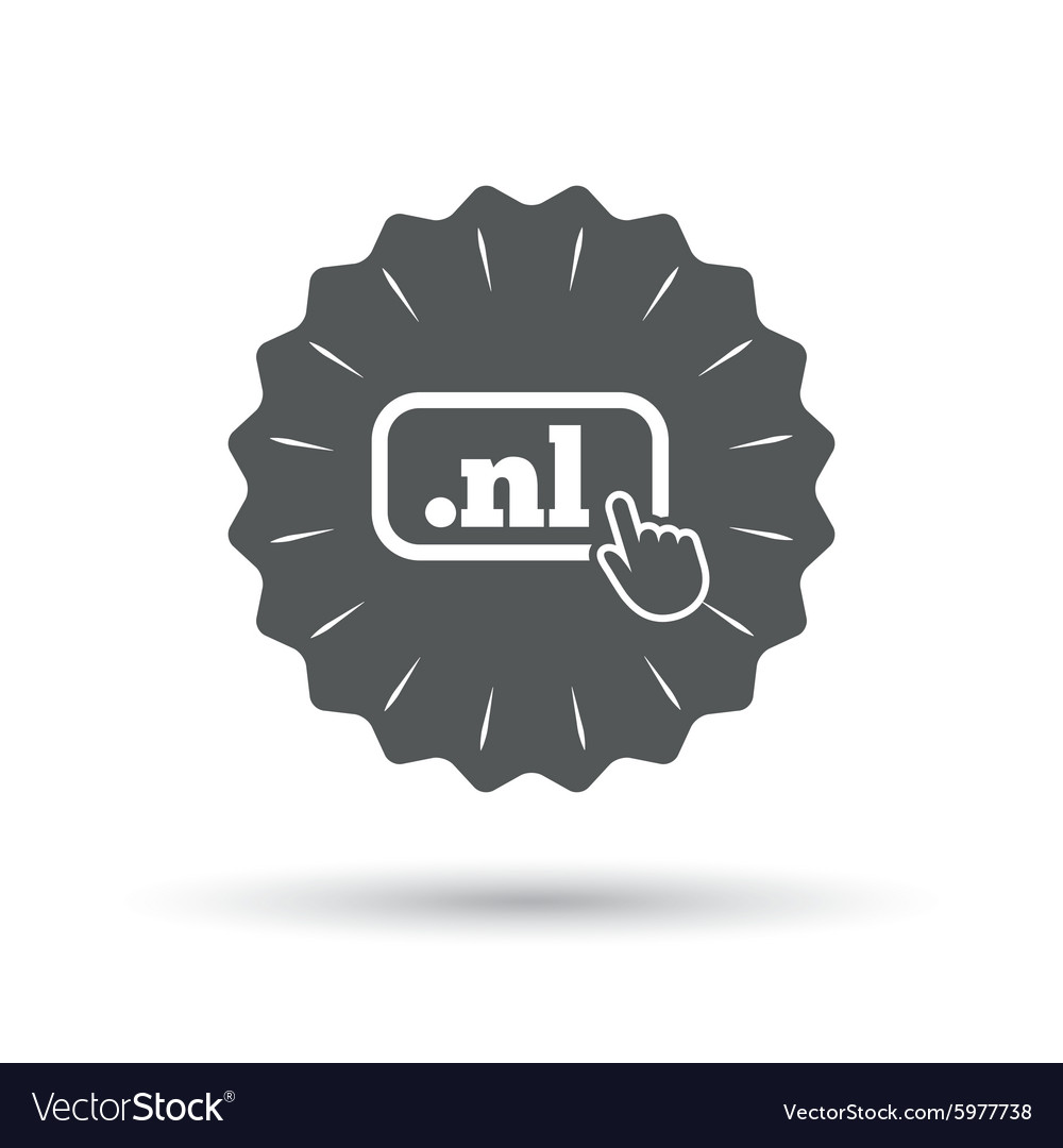 Domain nl sign icon toplevel internet domain vector
