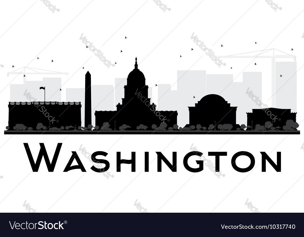 Washington dc city skyline vector