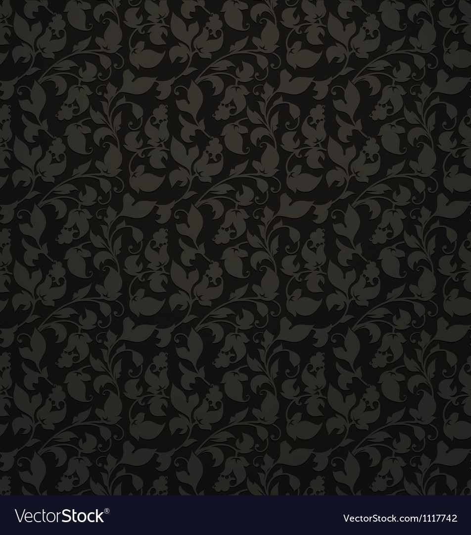 Seamless pattern black vector