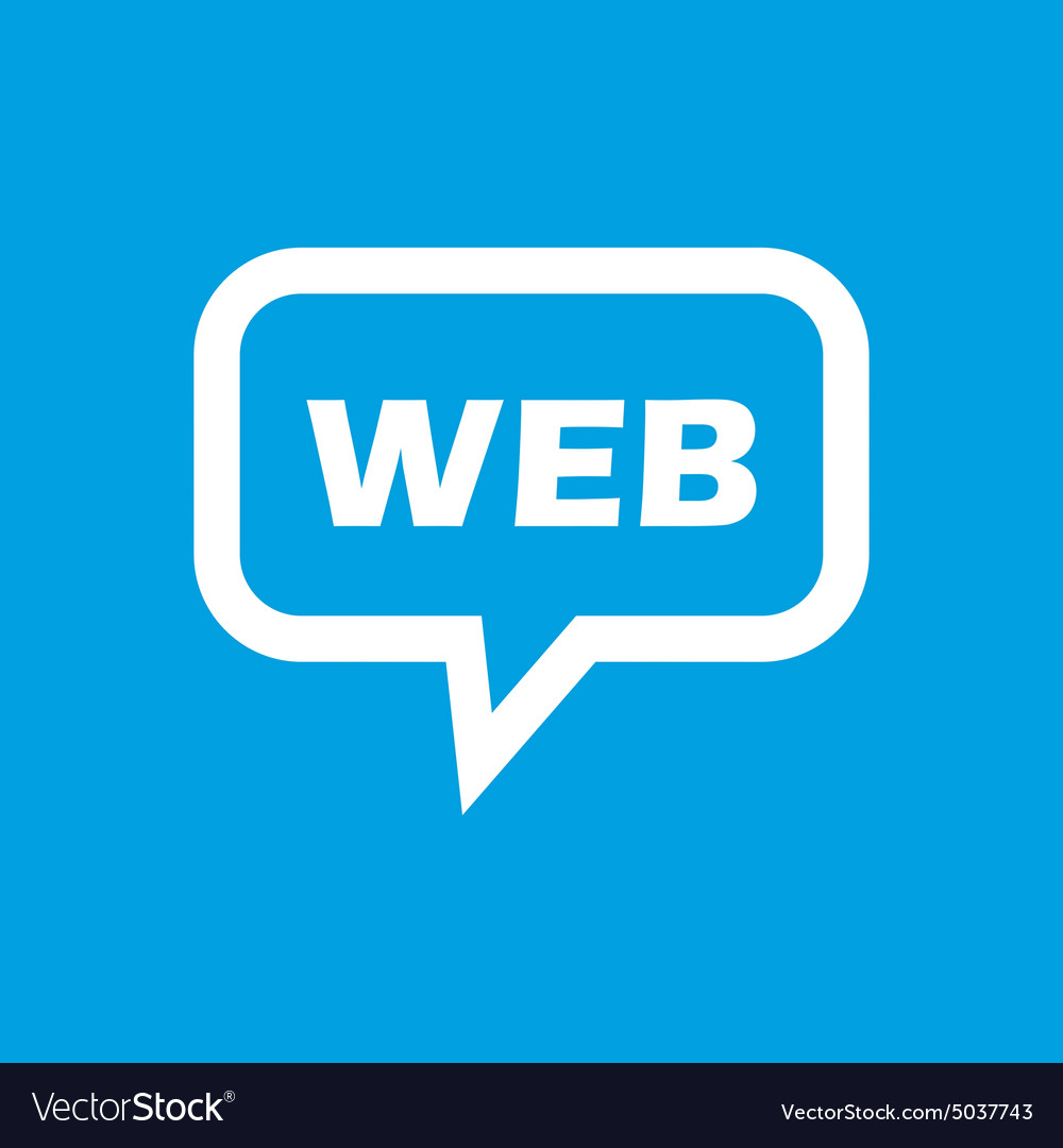 Web message icon vector