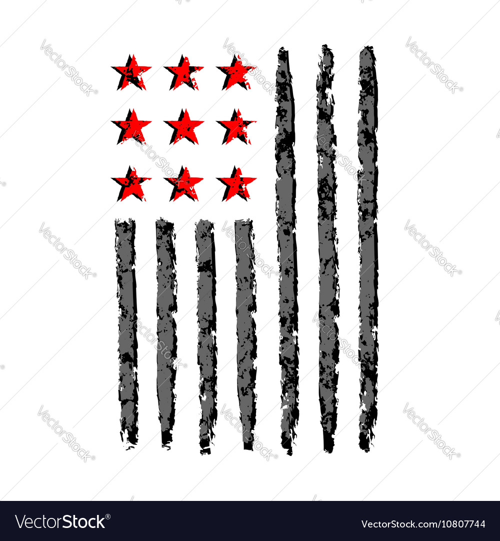 American flag grunge symbol independence day vector