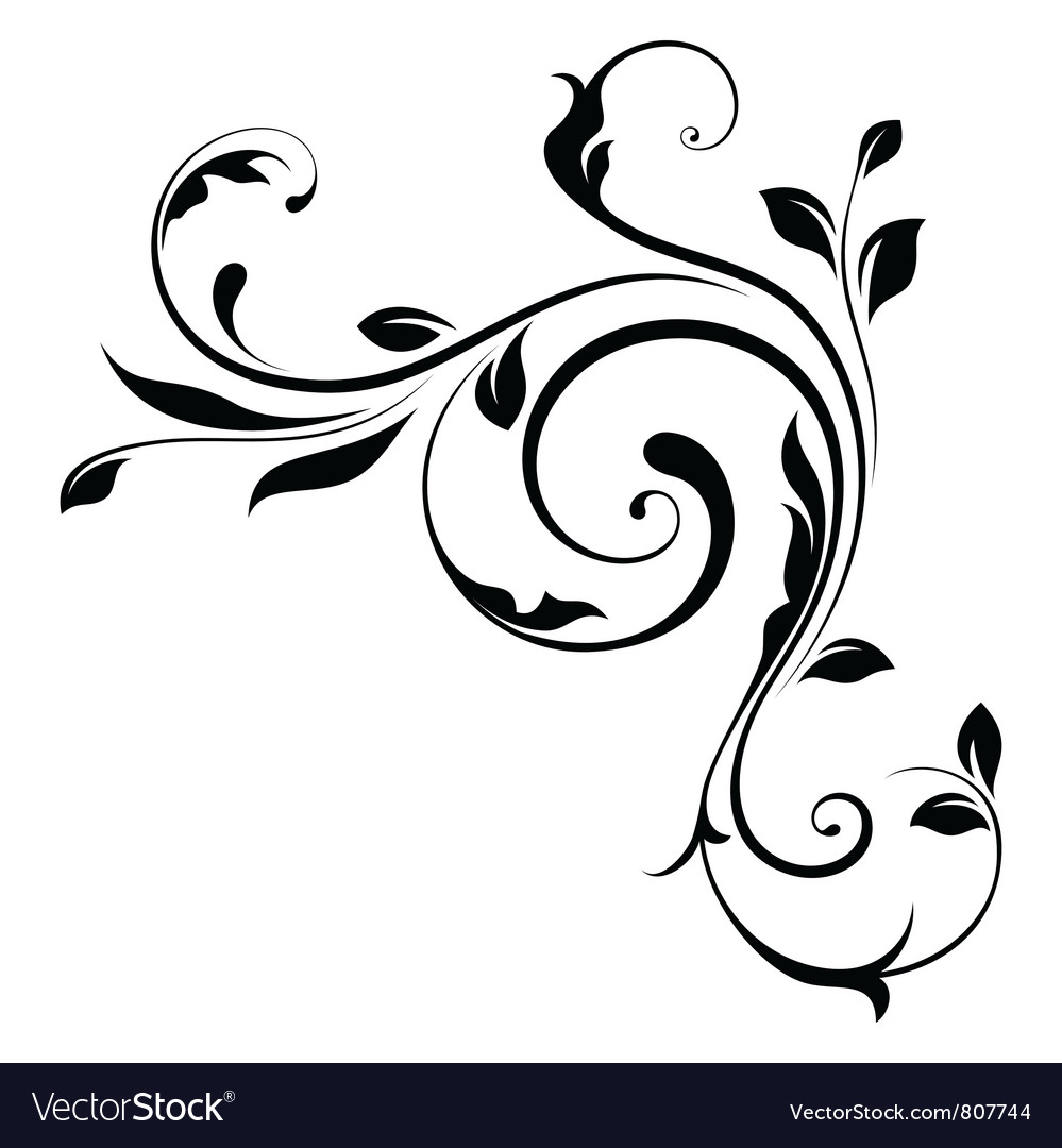 Design element swirls4 vector