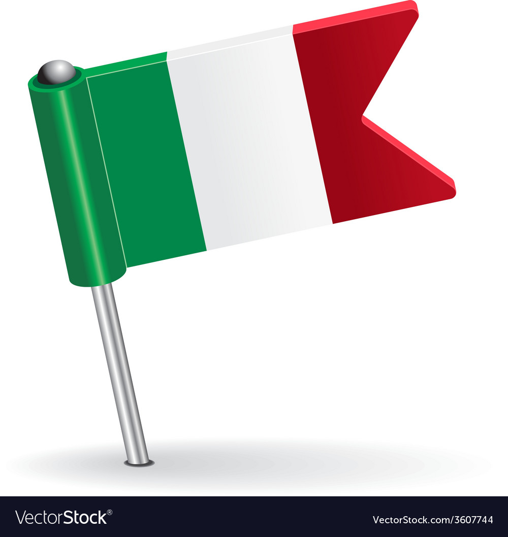Italian pin icon flag vector