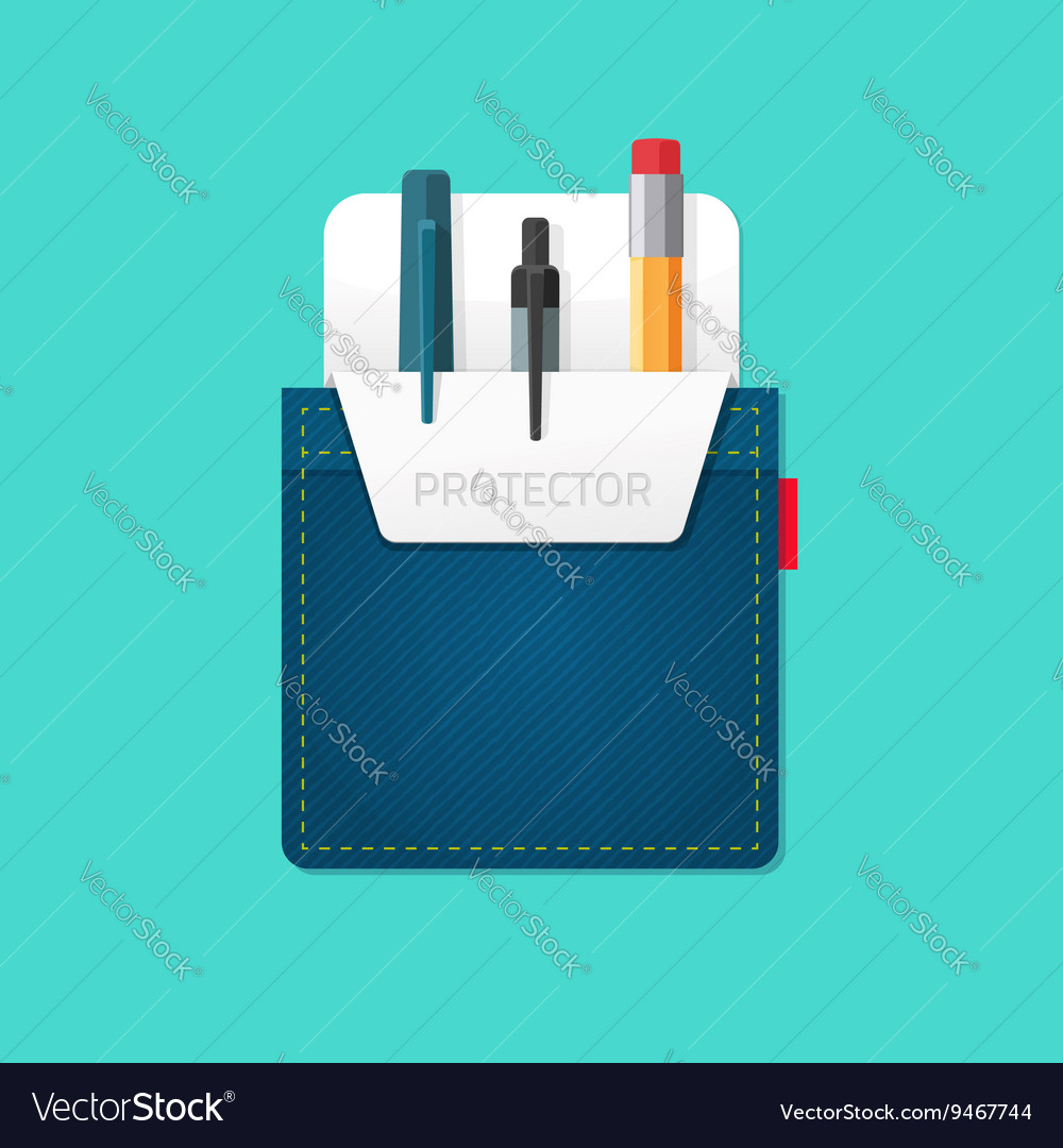 Jeans pocket protector vector