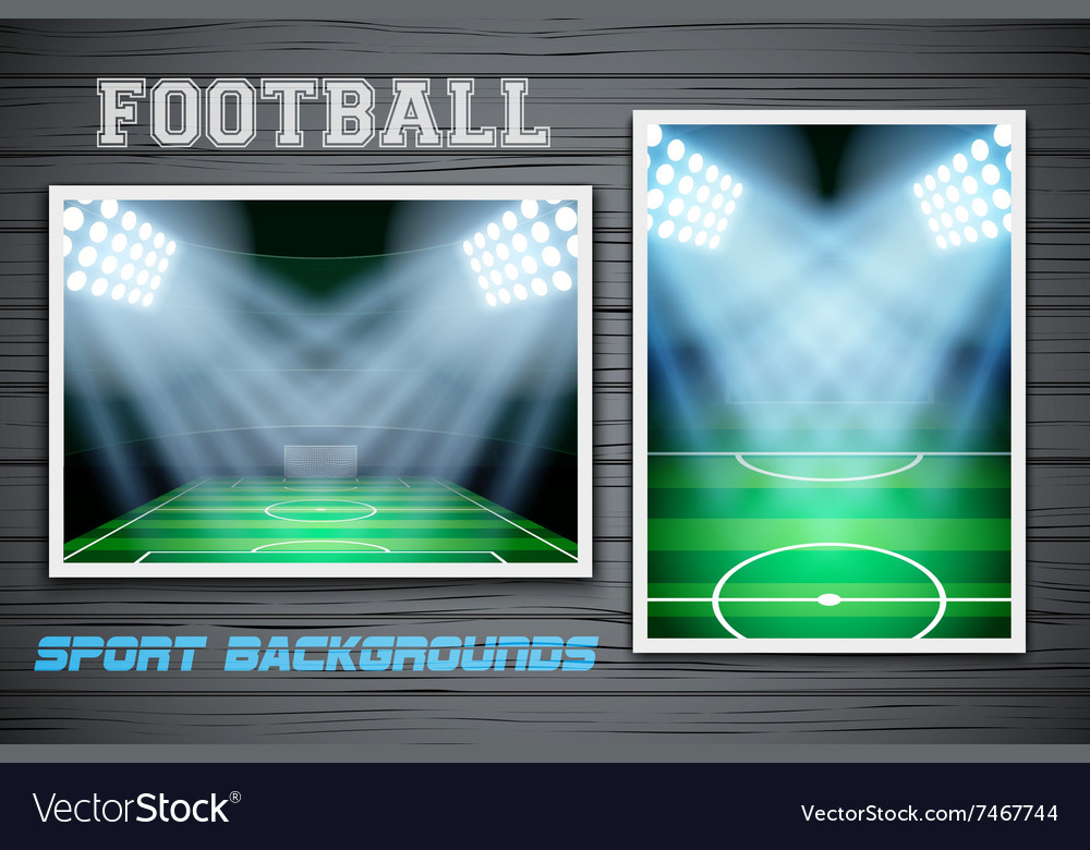 Set backgrounds of football stadium vector