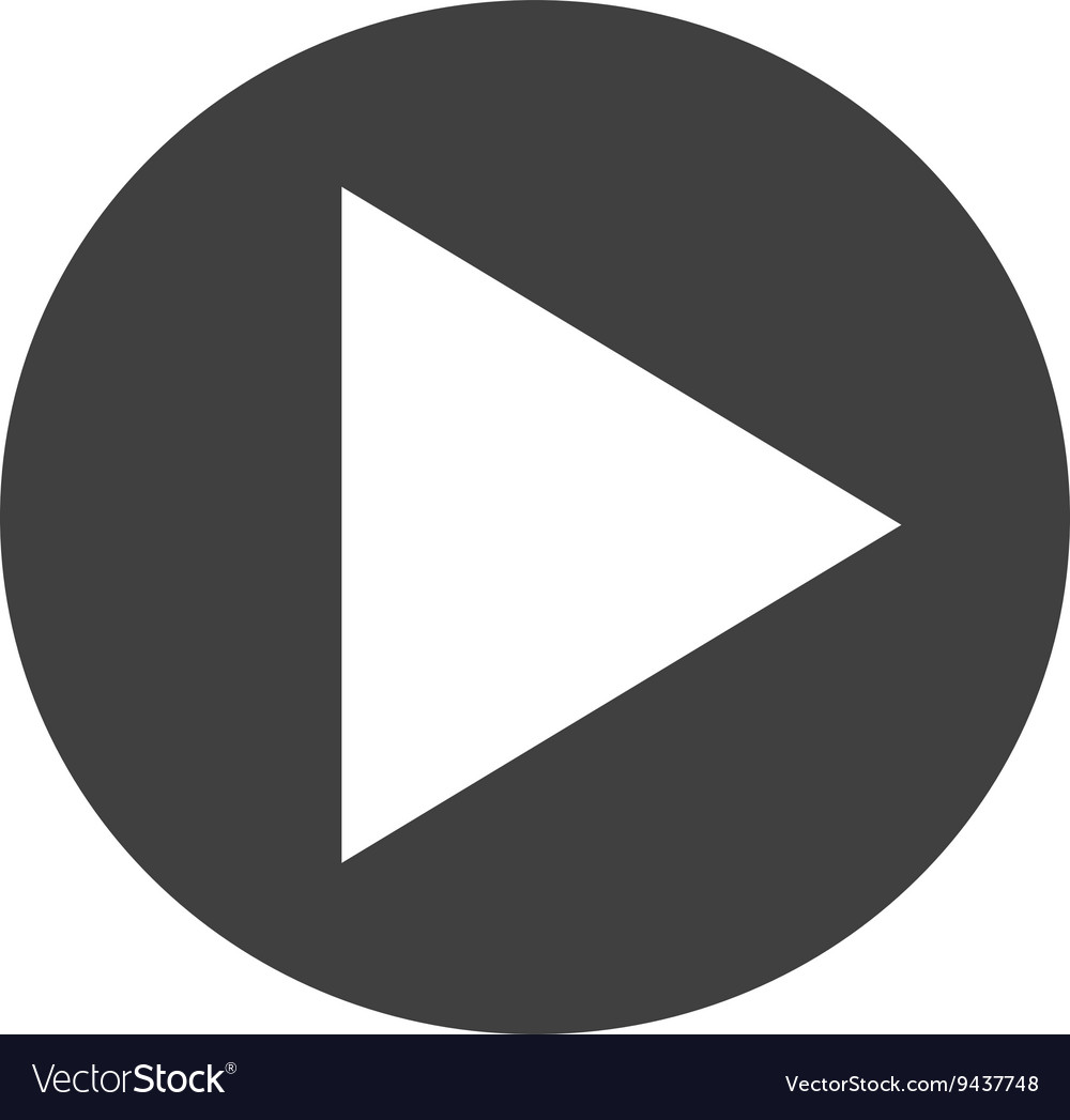 Simple play button vector