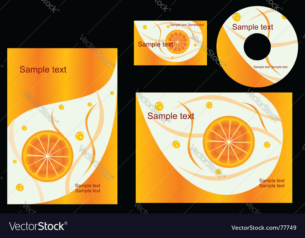 Elements of corporate style vector