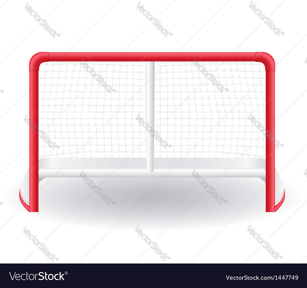 Gates goalie for the game of hockey vector