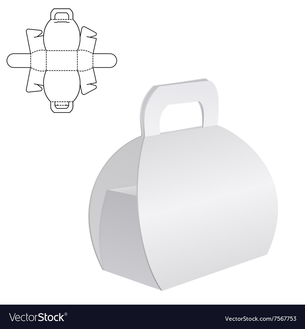 Clear gift carton box vector