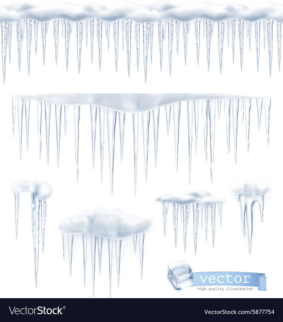 Icicles set vector