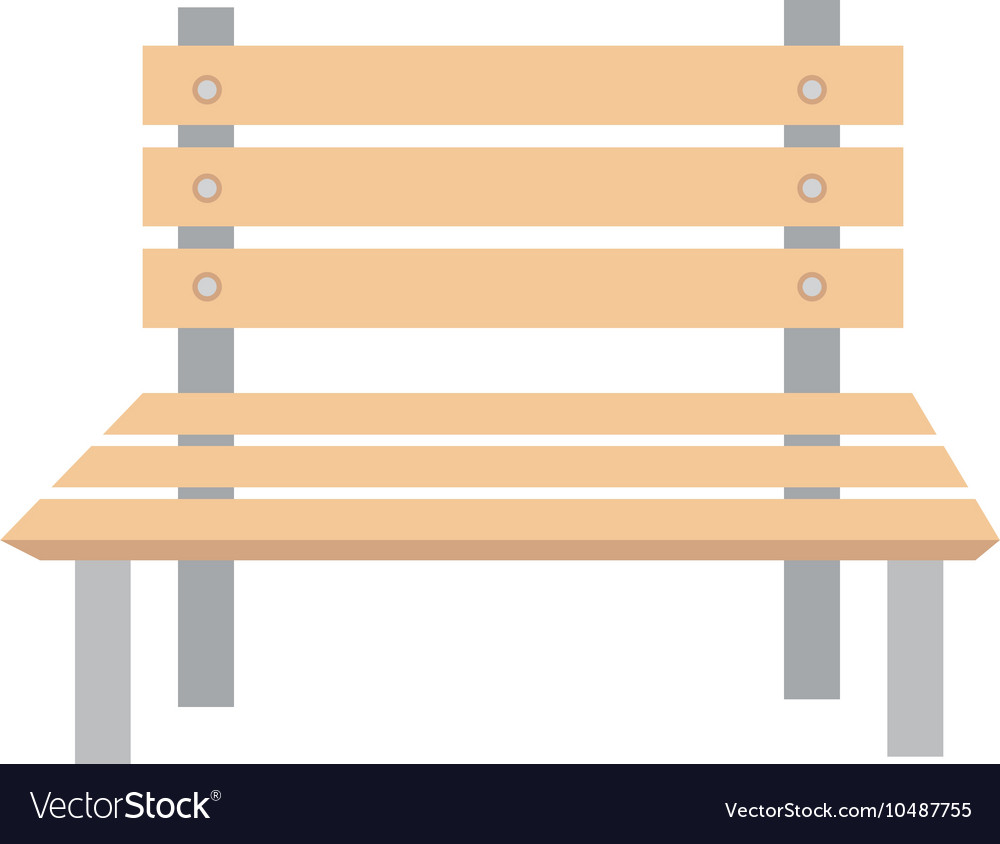 Bench wooden chair vector