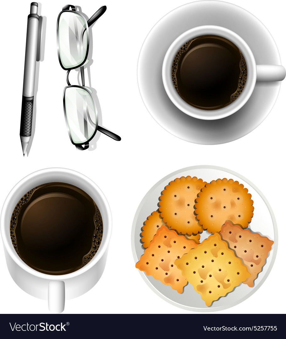 Cookies and coffee vector