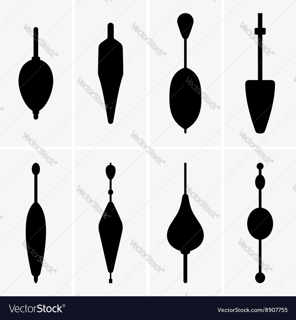 Fishing buoys vector