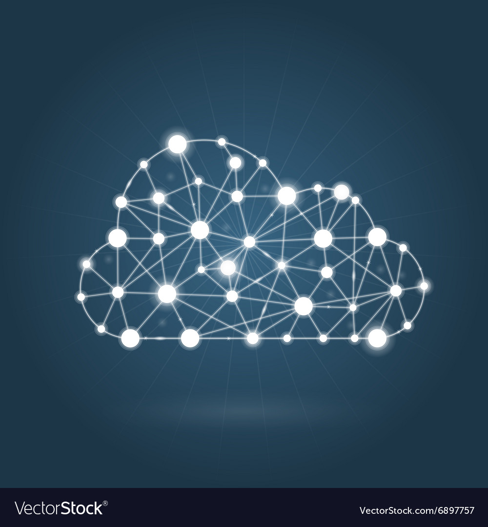 Cloud computing concept  internet communication vector