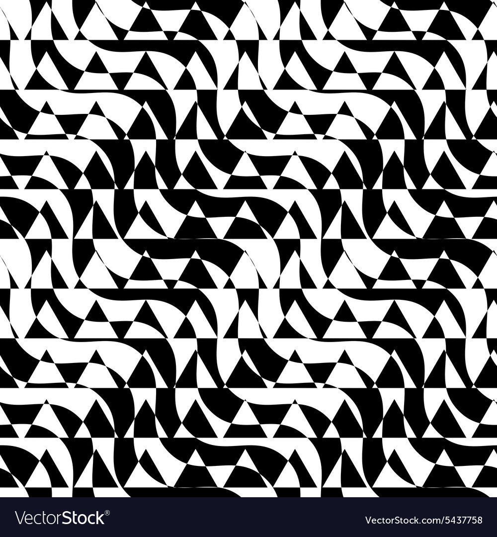 Black and white alternating diagonal ways triangle vector