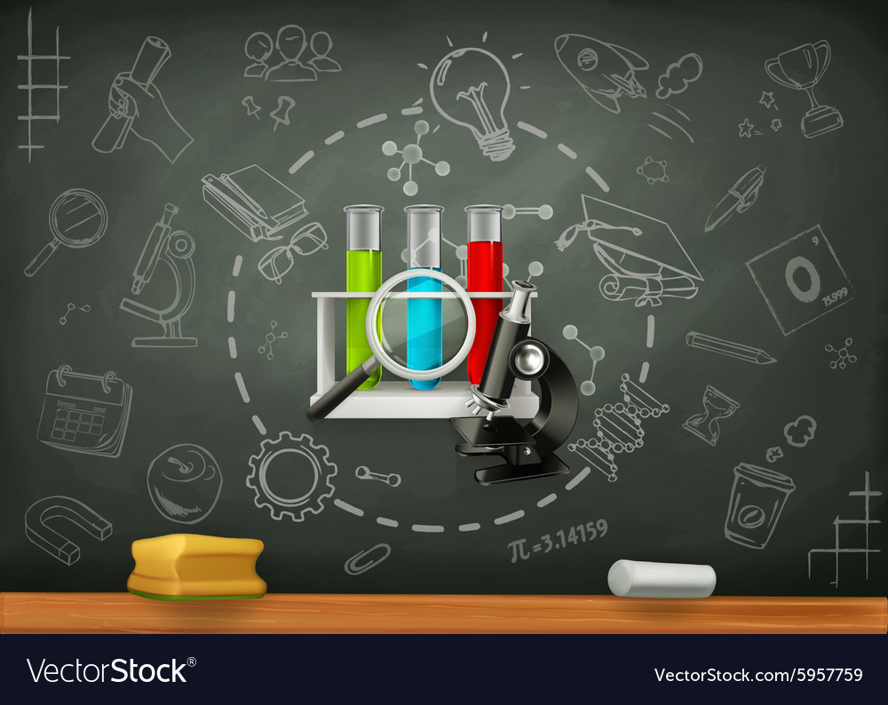 School and science infographics vector