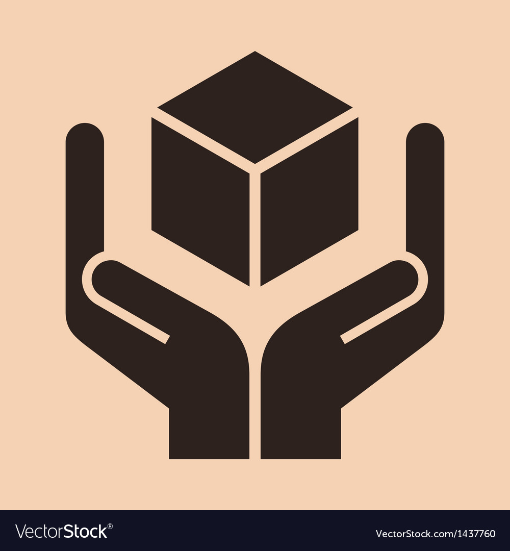 Handle with care sign vector