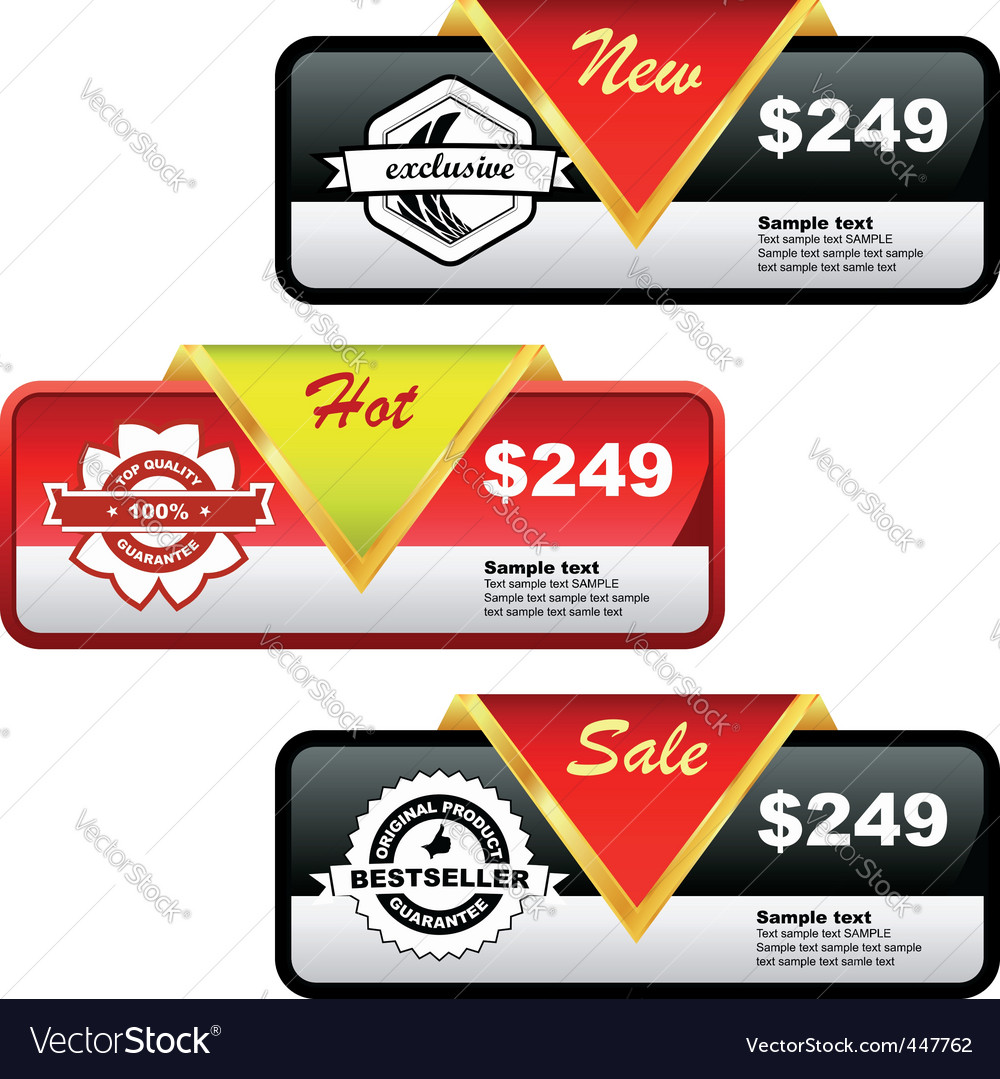Set of sale banner vector