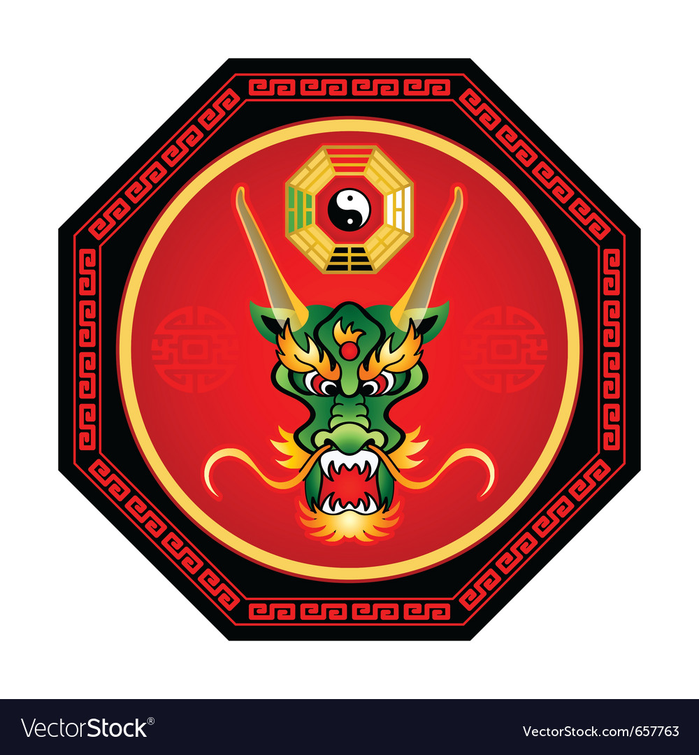 Feng shui dragon vector