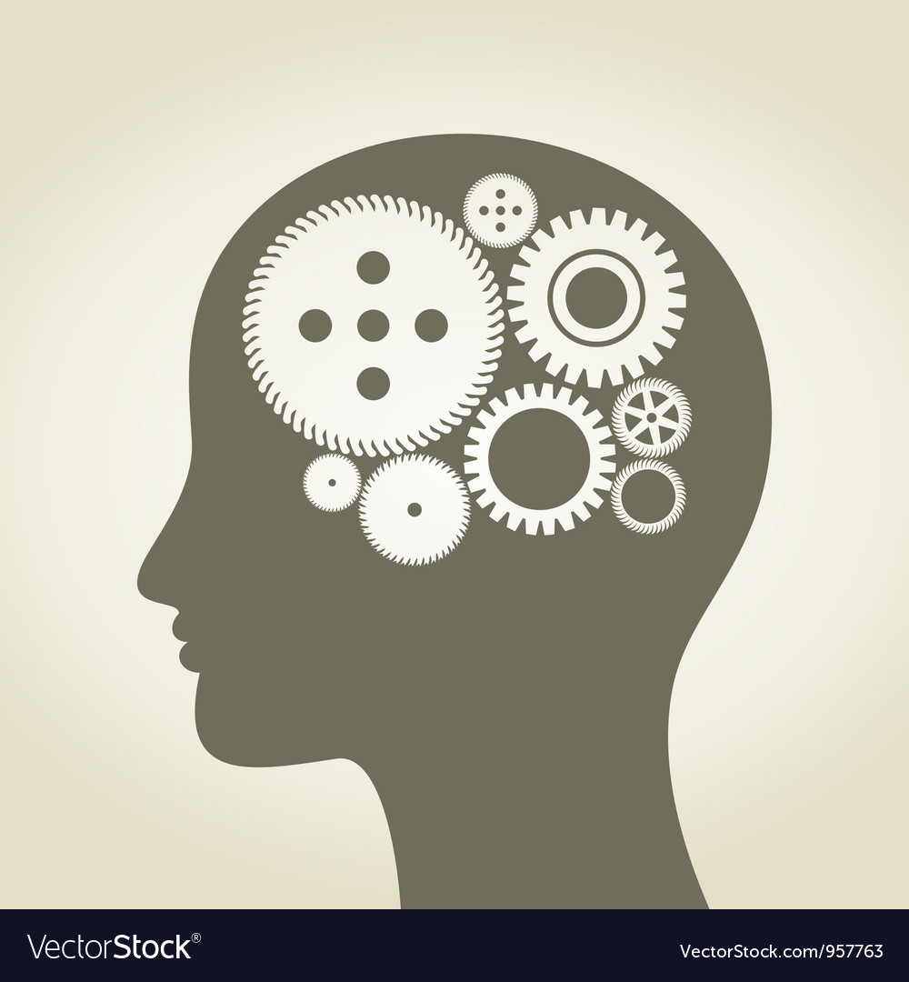 Head a gear wheel vector