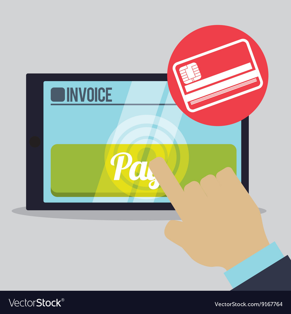 Invoice design online payment isolated vector