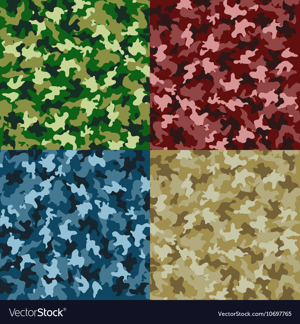 Camouflage texture vector