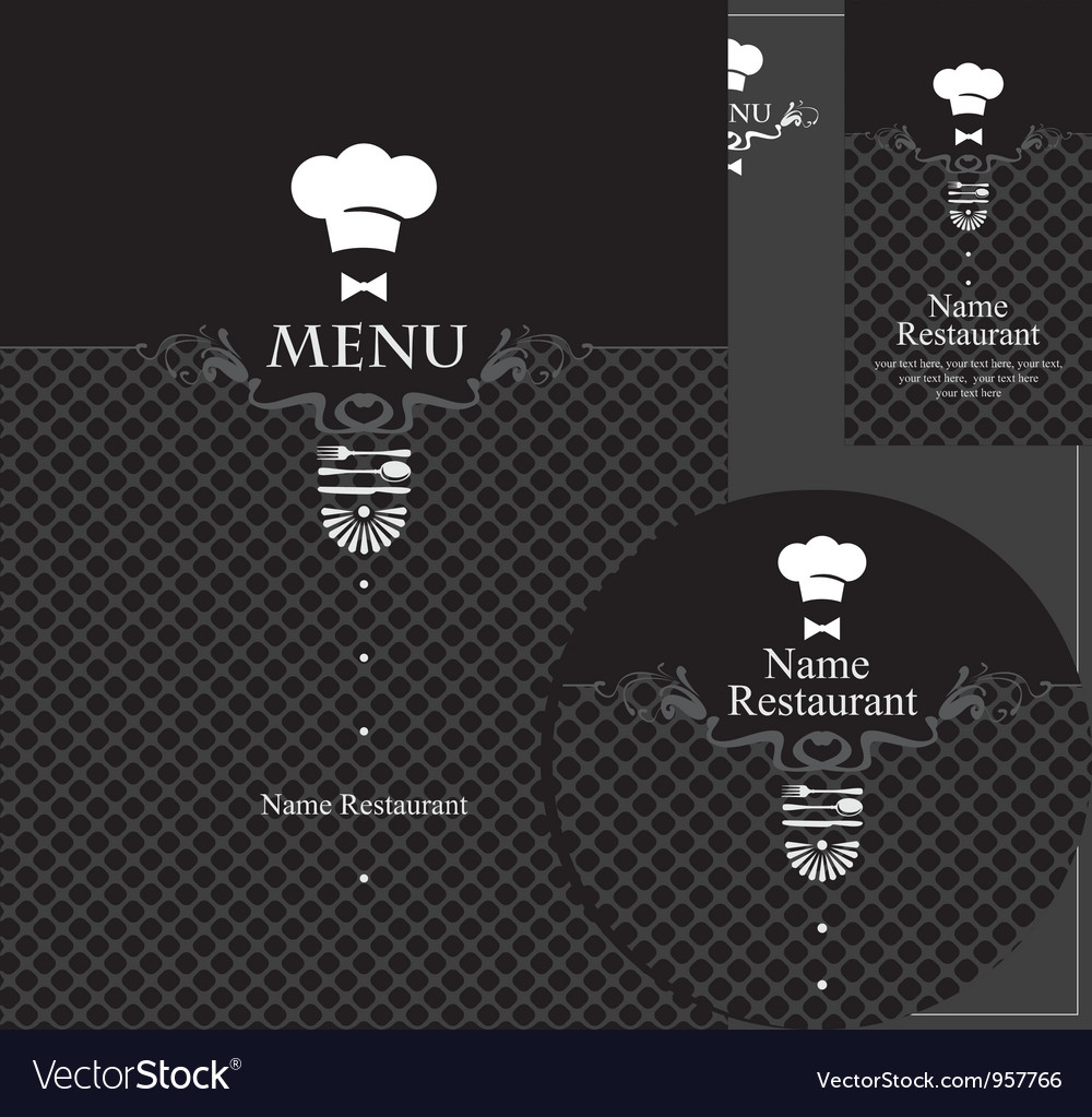 Menu waiter vector