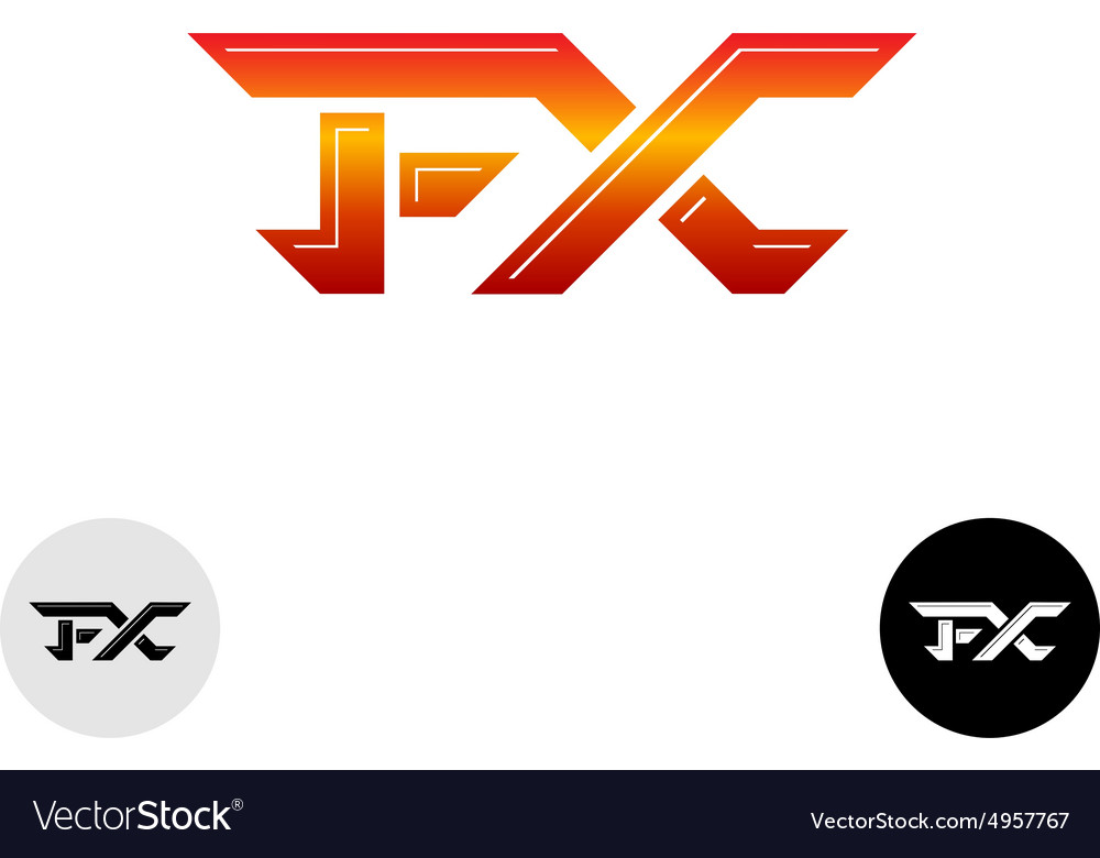 Fx letters logo vector