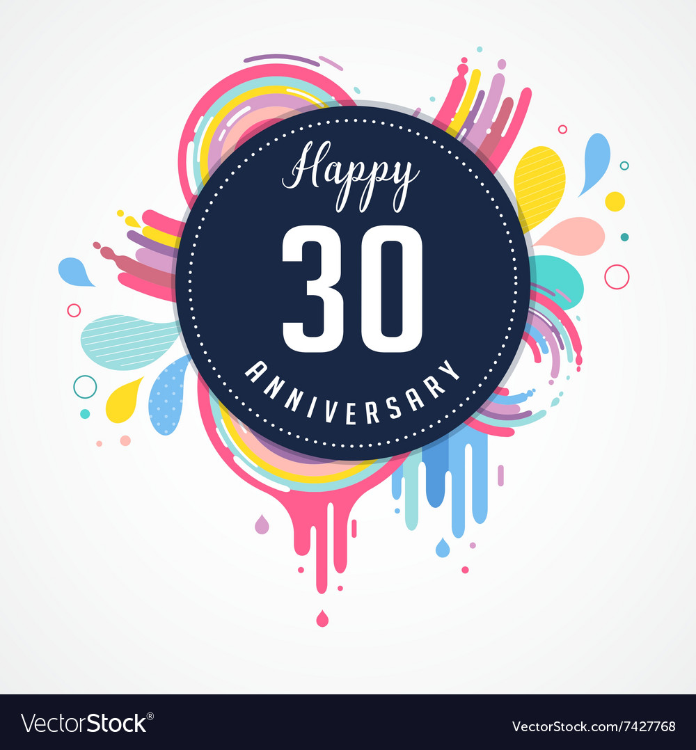 Anniversary  abstract background with icons vector