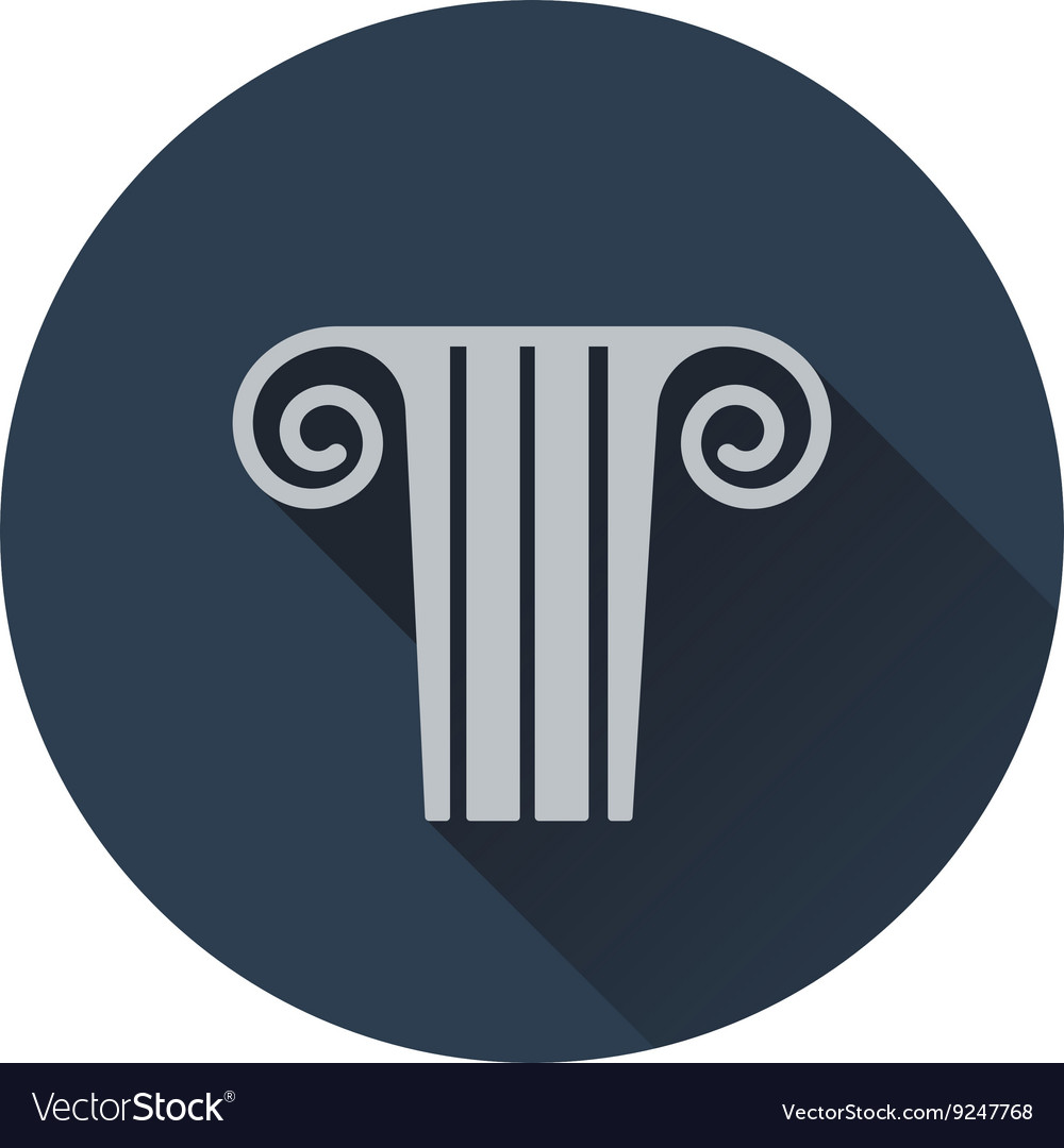 Antique column icon vector