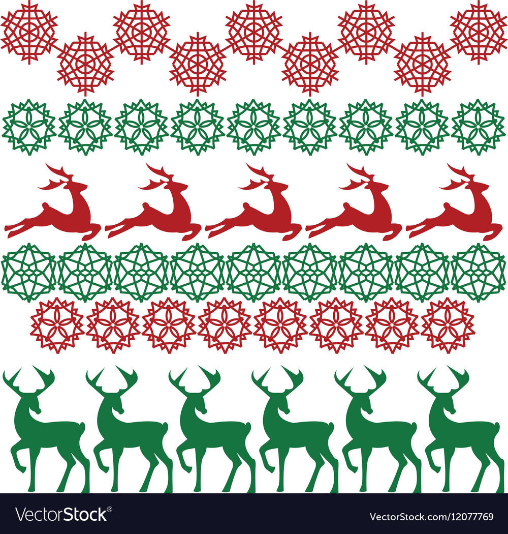 Ethnic nordic christmas seamless pattern vector