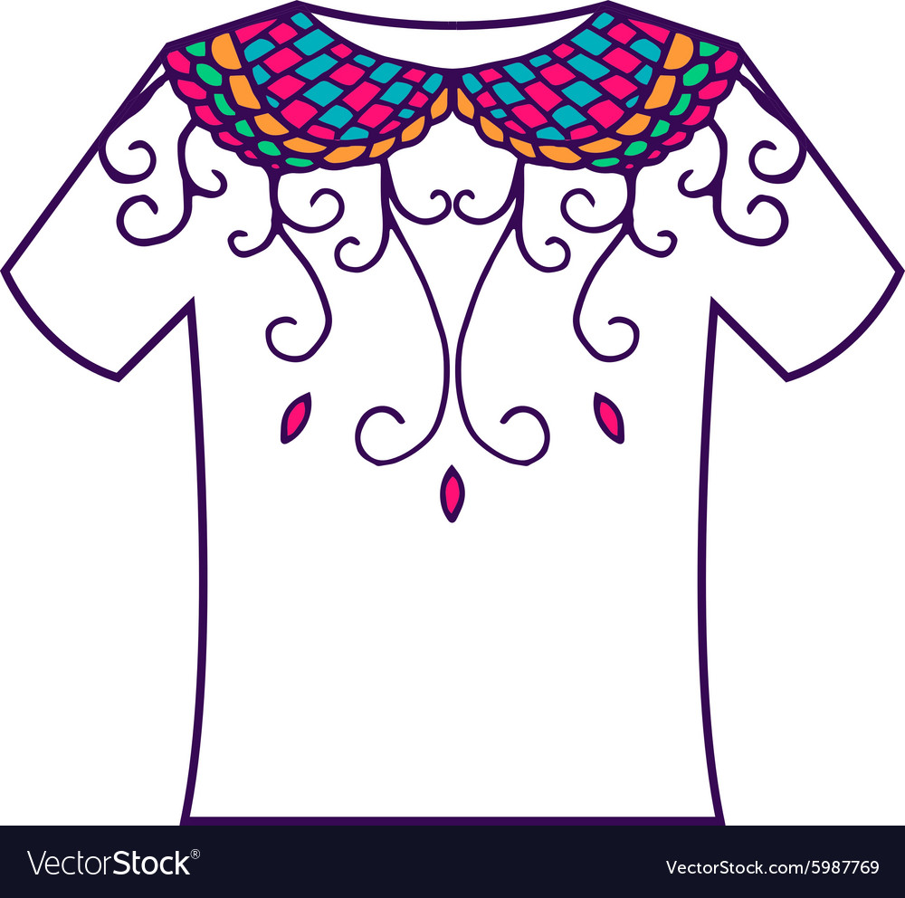 Set of colorful blank with doodle ornament vector