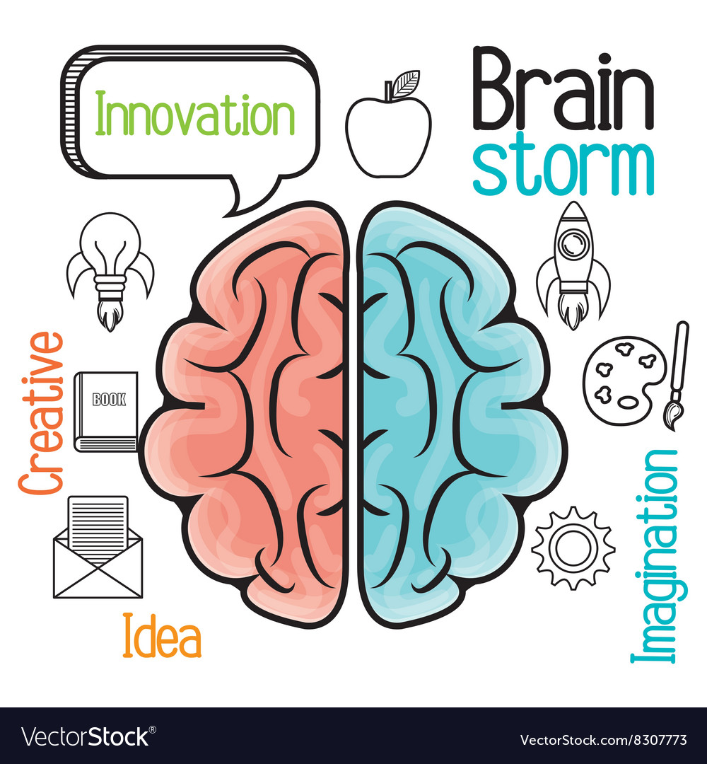 Brain storming design vector
