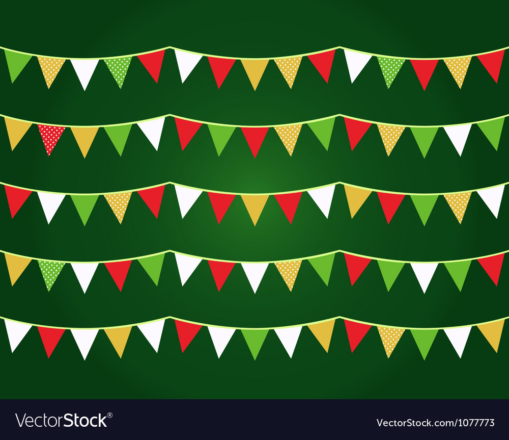 Christmas flags vector