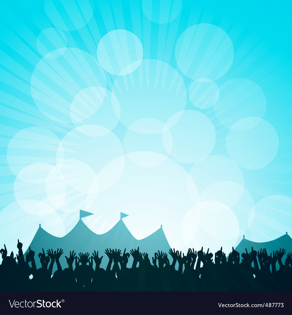 Festival and crowd vector