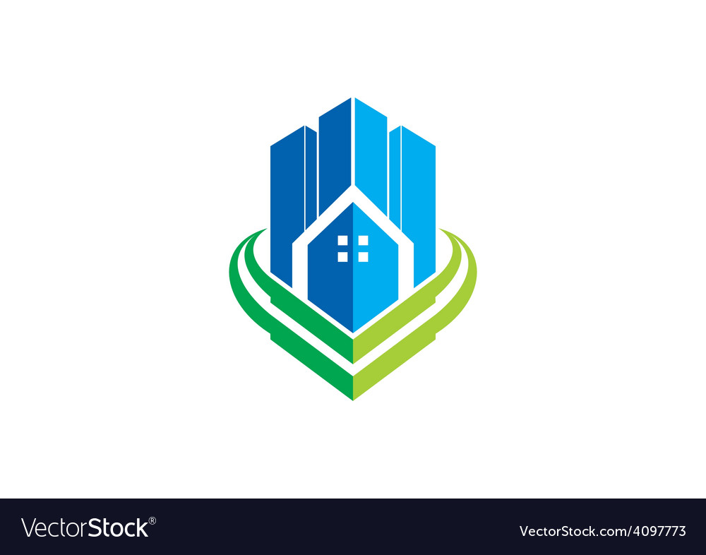Modern building city apartment logo vector