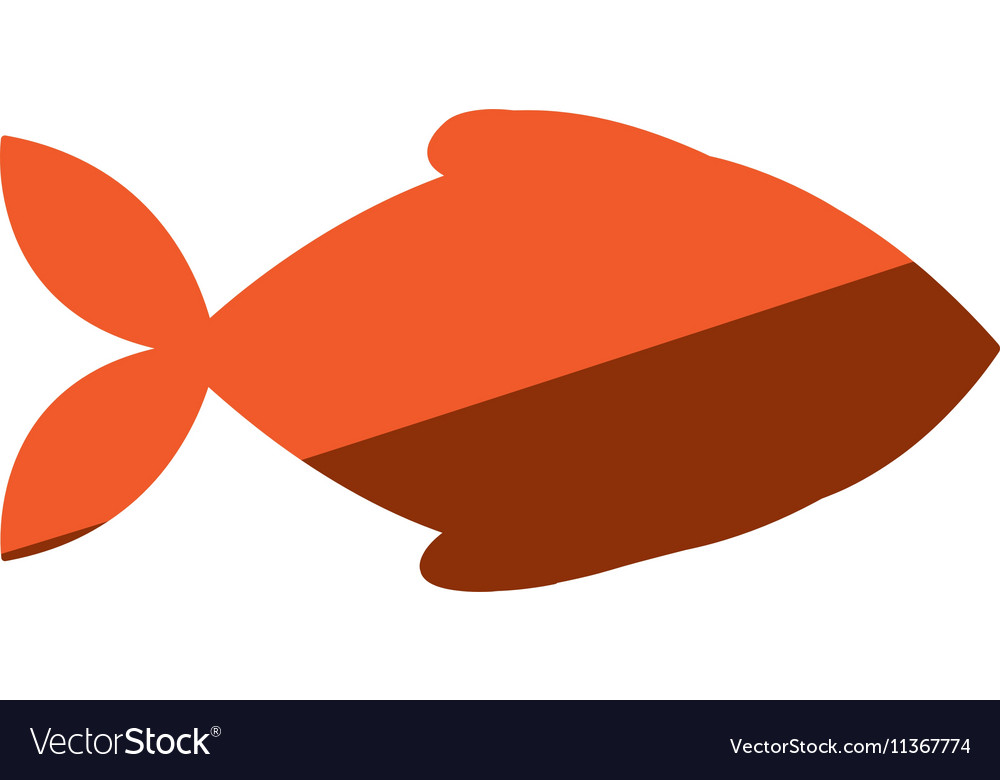 Fish animal silhouette icon vector
