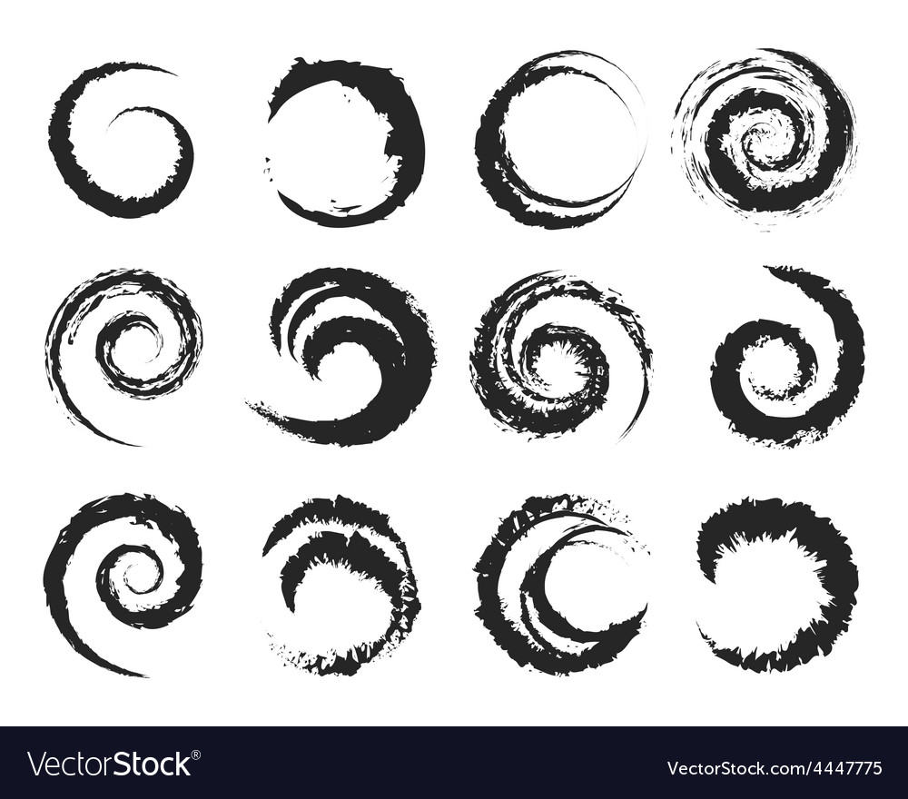 Grunge circle shapes vector