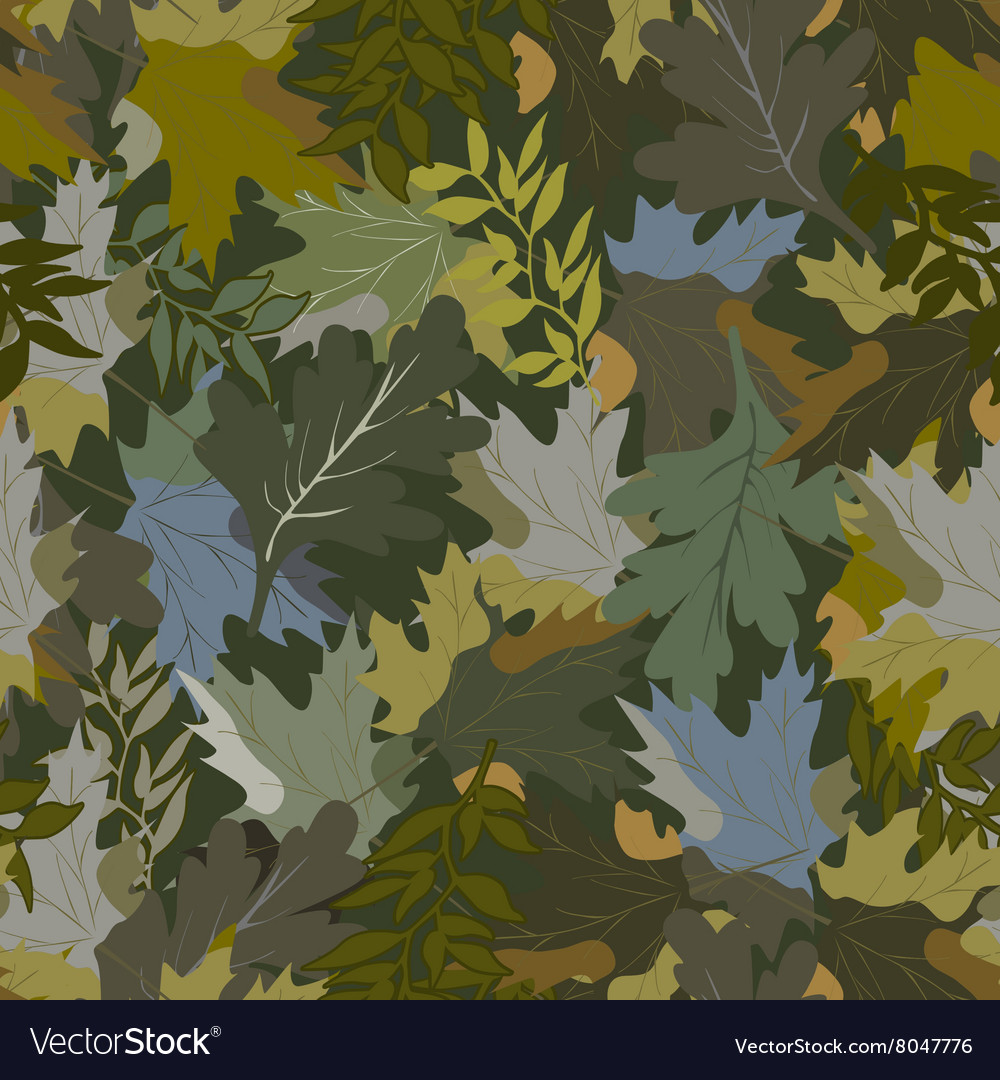 Khaki background with autumn leaves 4 vector