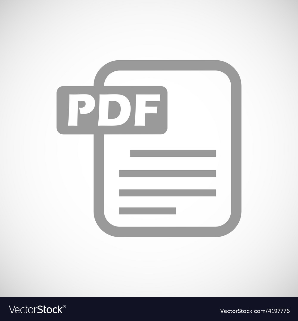 Pdf black icon vector
