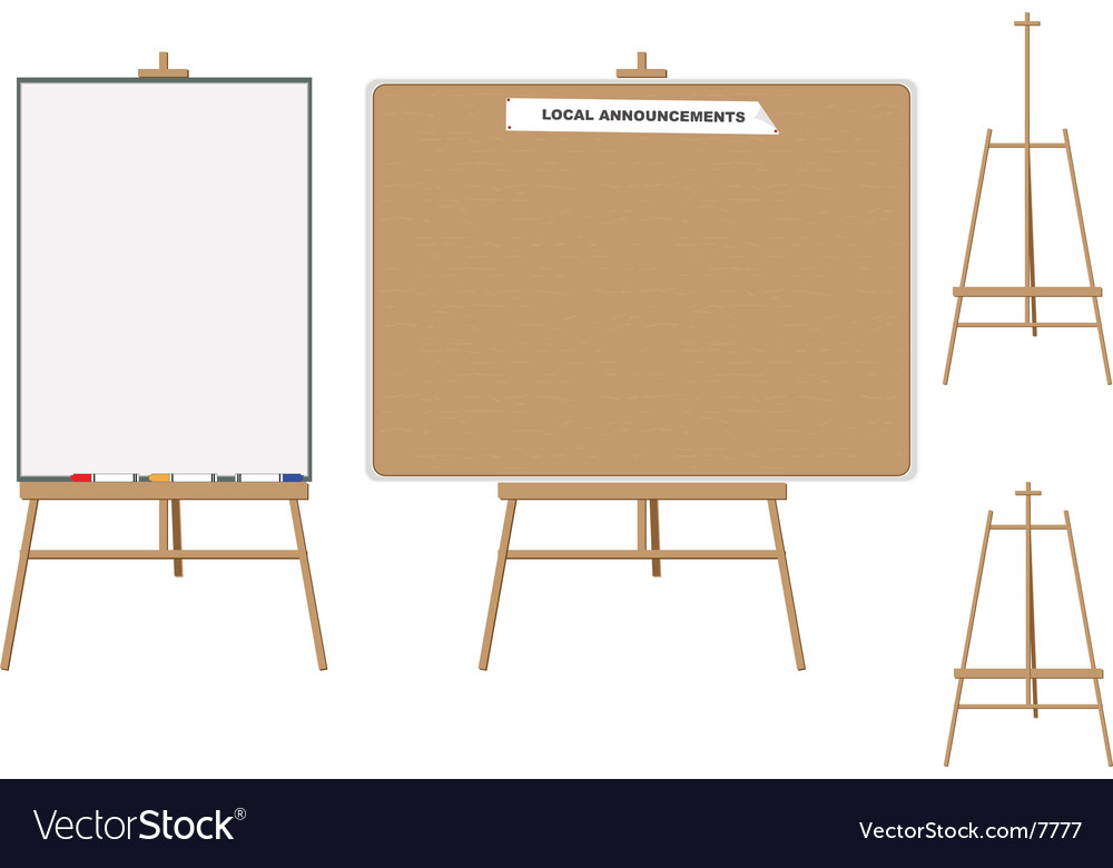 White board and wooden board vector