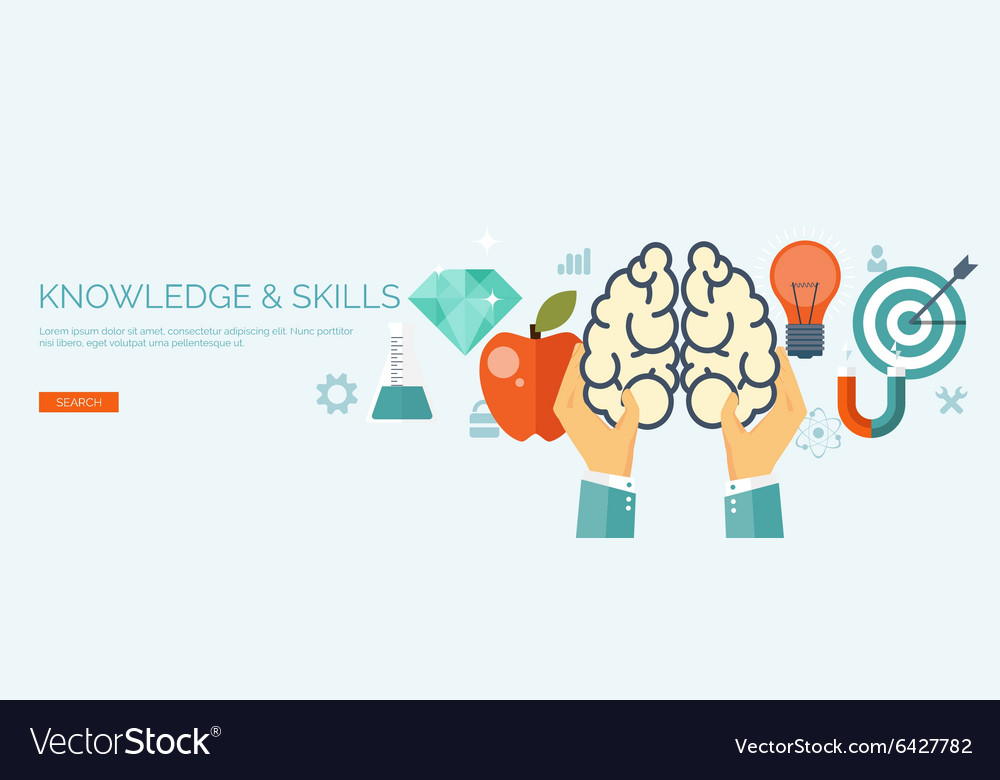 Flat brainstorm background vector