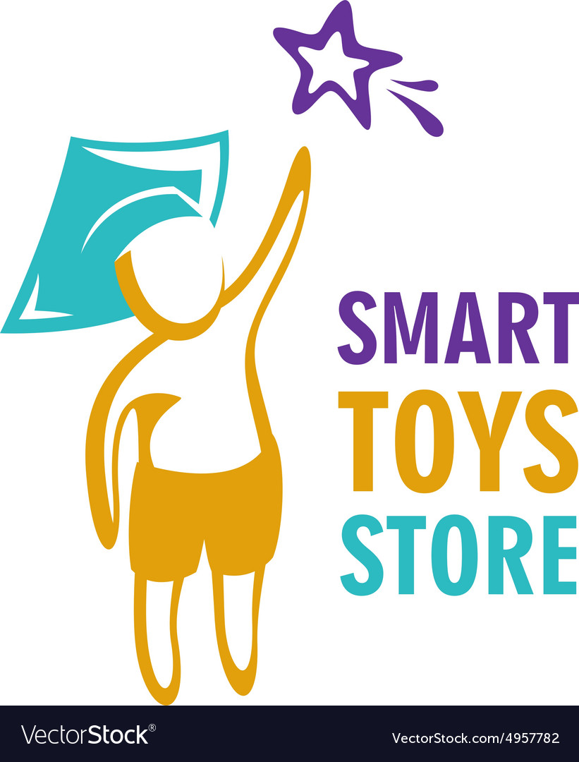 Toy store logo template vector