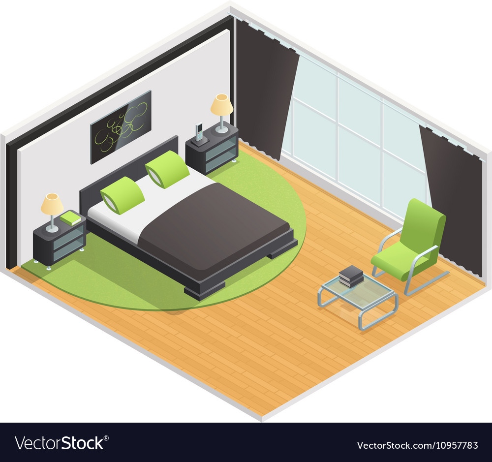 1605i101022sm004c11living room interior isometric vector